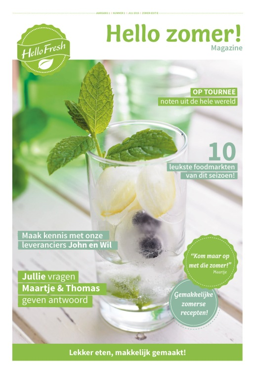 Cover HelloFresh-magazine