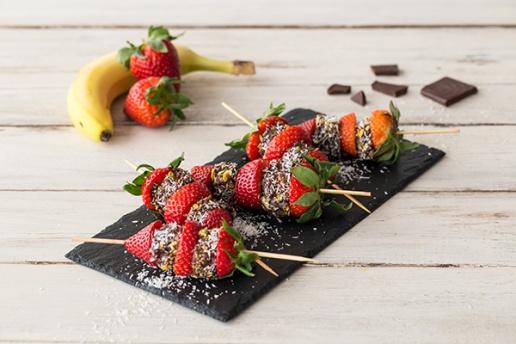 Aardbeien-bananenspiesjes van HelloFresh